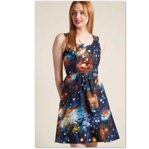 Modcloth Fervour Heart & Solar System Dress